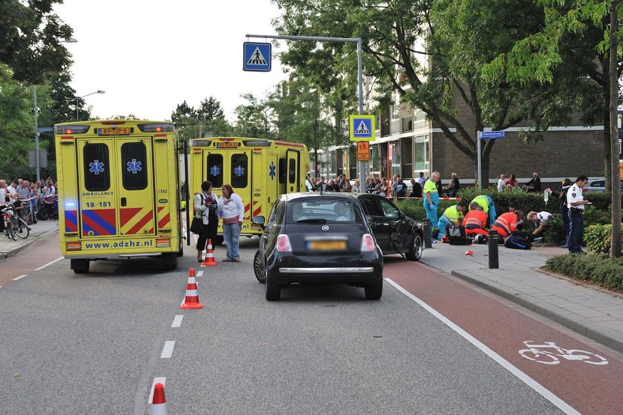 Twee gewonden na ongeval met scooter