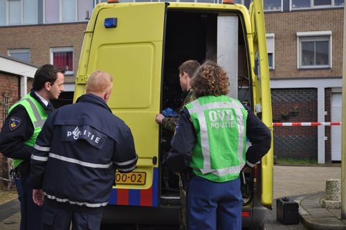 Hovenier ontdekt explosief tijdens werkzaamheden Coppelstockstraat Brielle