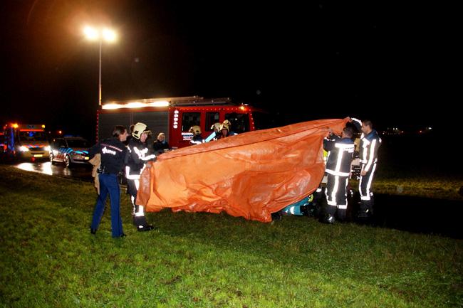 Fietser getroffen door bliksem in Benthuizen