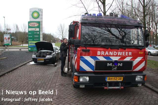 Autobrand blijkt vastgelopen remmen te zijn