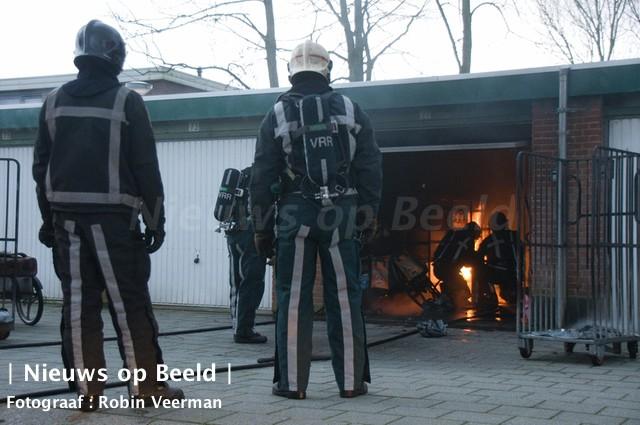 Brand in opslagbox PostNL Endeldijk