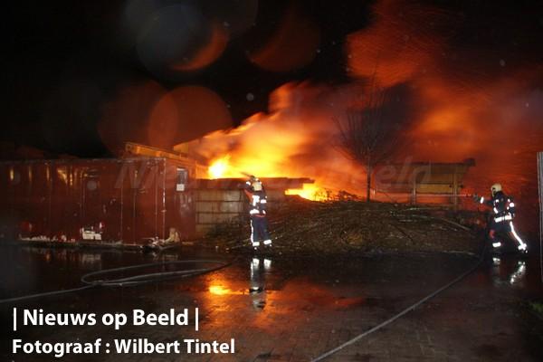 Fikse brand in sorteermachine Benthuizen