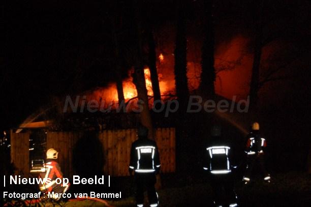 Schuur uitgebrand aan de Noord in Krimpen a/d Lek