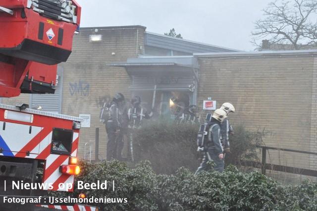 Brand in voormalig Talenthouse Pascalweg Rotterdam