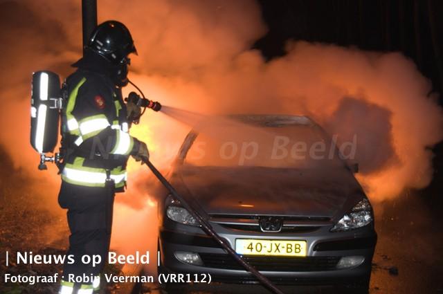 Auto in brand gestoken Maeterlinckweg Rotterdam