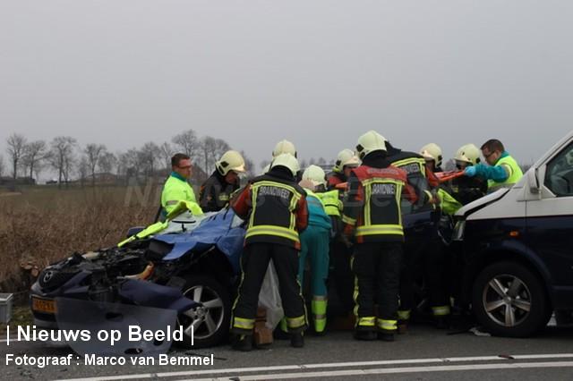 Meerdere gewonden na ongeval op N210 Schoonhoven