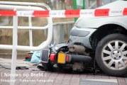Scooterbestuurder geschept door auto Oude Veiling Maasland