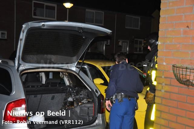 Auto in brand gestoken Ouverturelaan Spijkenisse