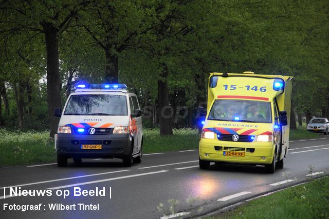 Gewonde na eenzijdig ongeval Nieuwe Hoefweg Benthuizen