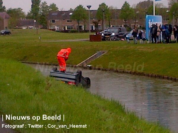 Auto raakt te water Zuidelijke Randweg Middelharnis