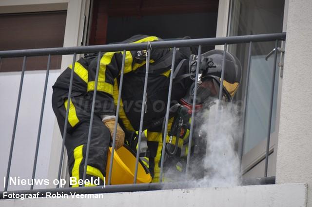Aanhouding bij brand in woning Orchideestraat Spijkenisse