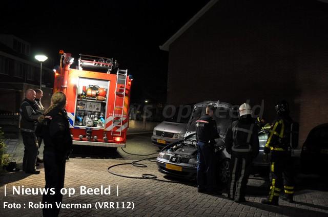 Wederom auto in brand gestoken Snoekenveen Spijkenisse