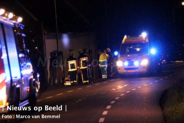 Fietster gewond na val van dijk op de IJsseldijk Noord in Ouderkerk aan den IJssel