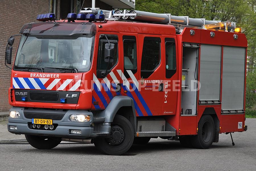 Gewonde gered bij brand in huis Heemraadstraat Rotterdam