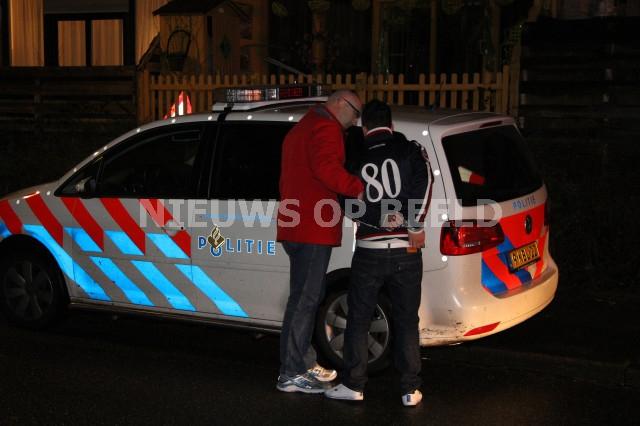 Jongen aangehouden na het hinderen van de hulpdiensten. Hobo Capelle aan den IJssel. Foto Jeffrey Jacobs