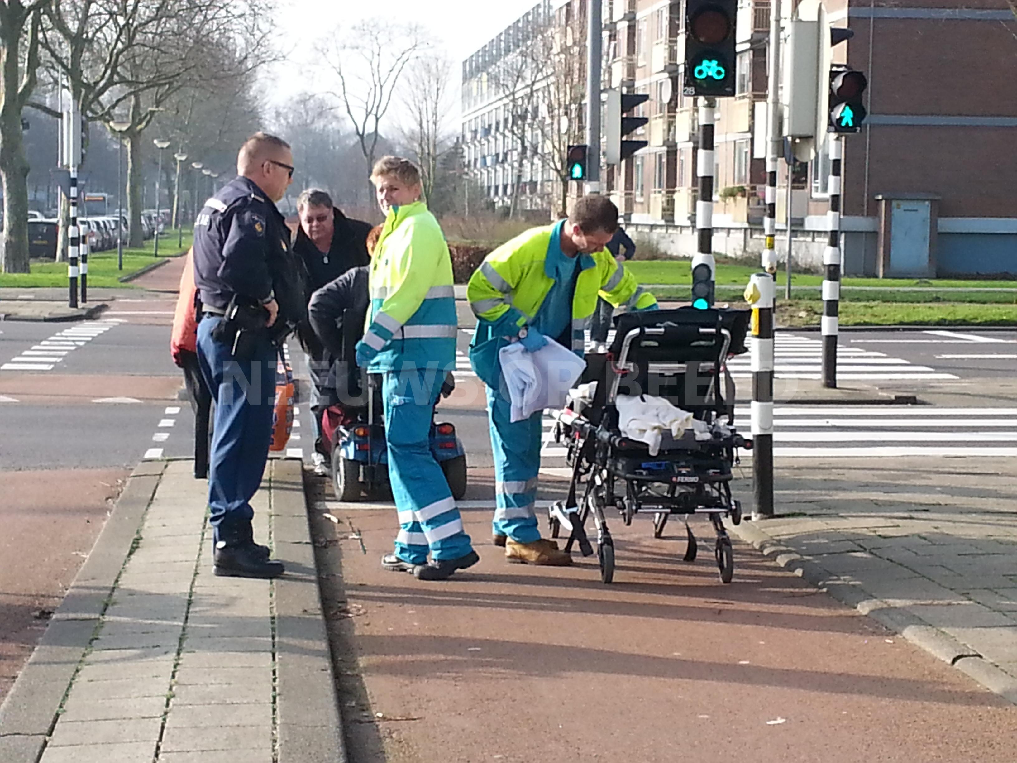 Vrouw gewond na aanrijding met scootmobiel Prins Alexanderlaan Rotterdam