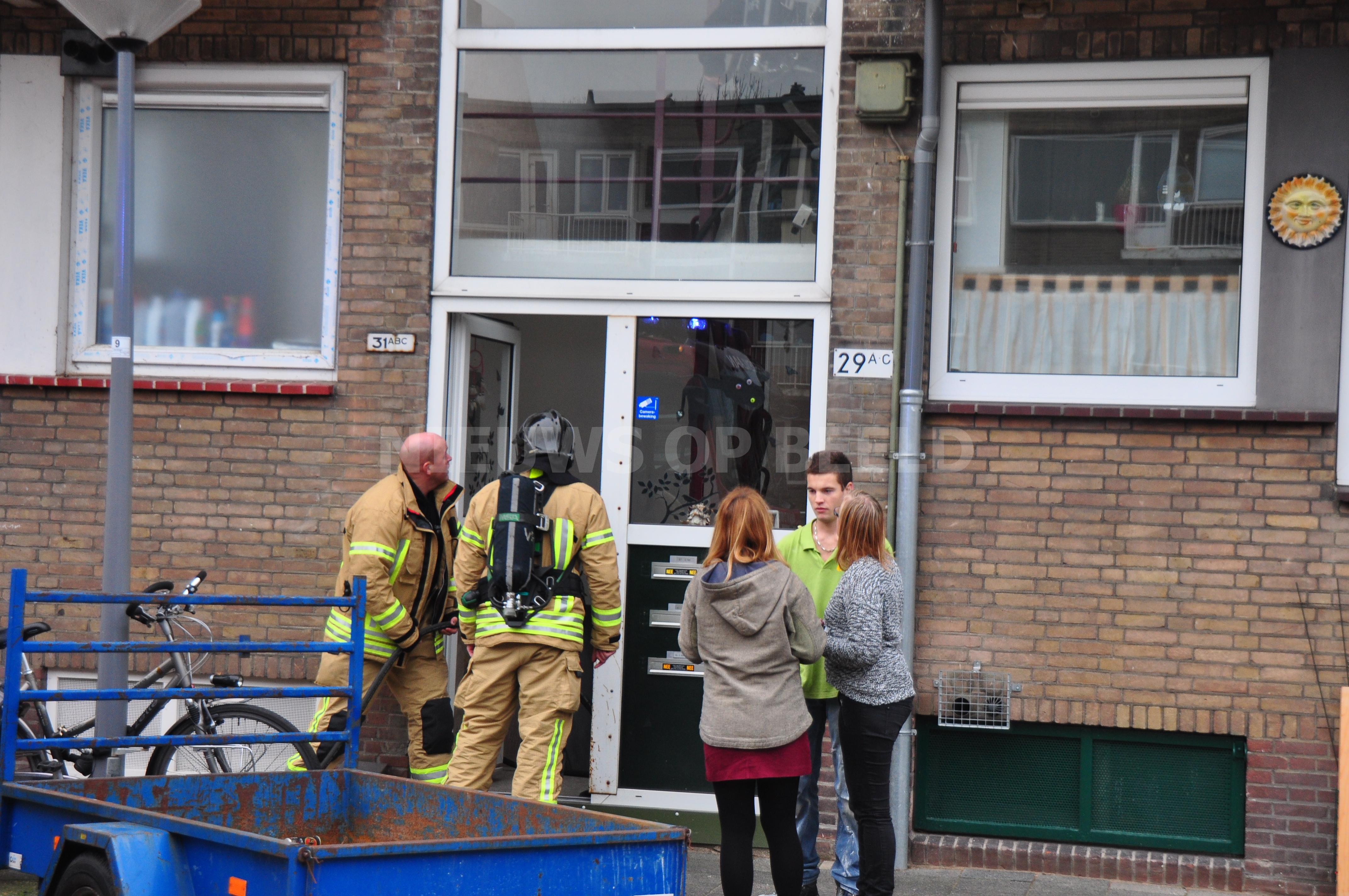 Brand in gebouw blijkt slijpwerkzaamheden Urkersingel Rotterdam
