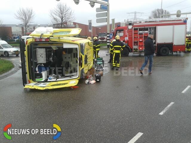 Patiënt in ambulance kreeg beroerte door ongeval Wippolderlaan Wateringen