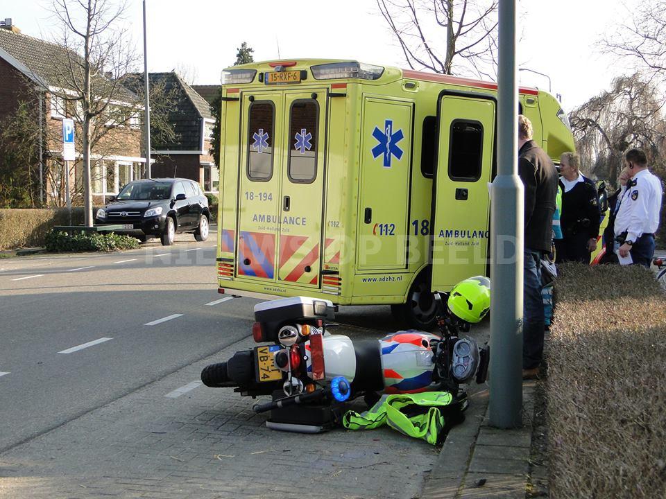 Motoragent betrokken bij ongeval Stevensweg Dordrecht