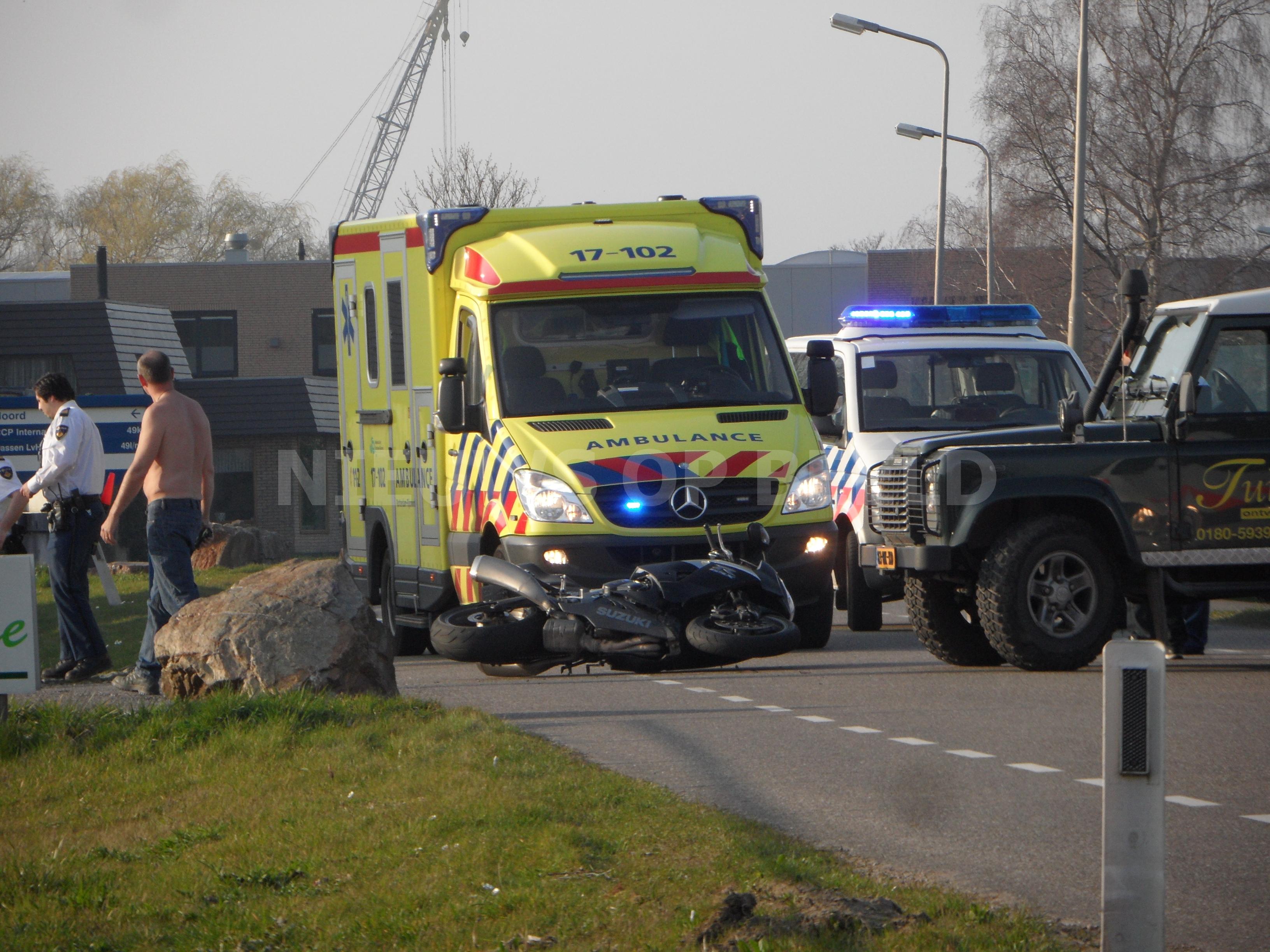 Motorrijder gewond na eenzijdig ongeval de Noord Krimpen aan de Lek