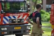 Brandweer rukt uit voor grote brand in pand aan de Brouwersstraat in Amsterdam