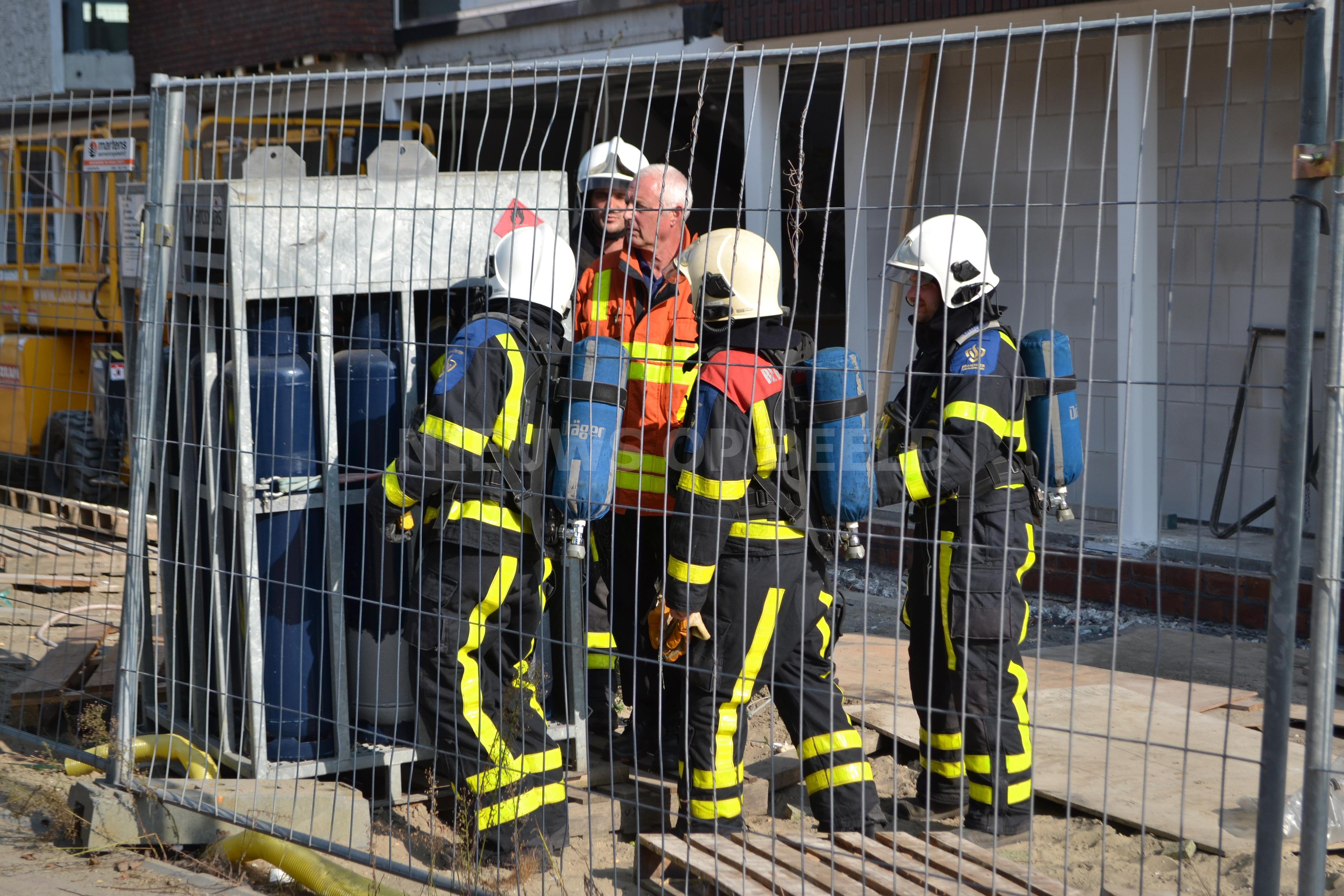 Lekkende gasfles veroorzaakt fikse gaslucht op bouwplaats Stockholmplein Strijen