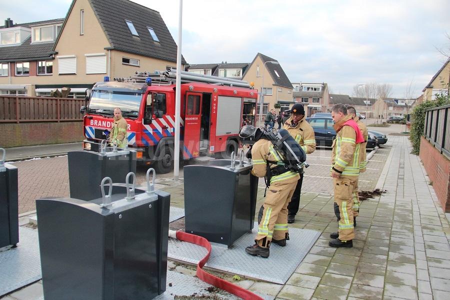 Container in brand Mendelssohnstraat Capelle aan den IJssel