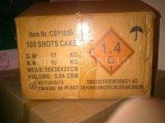 Vuurwerk 100 shots cake