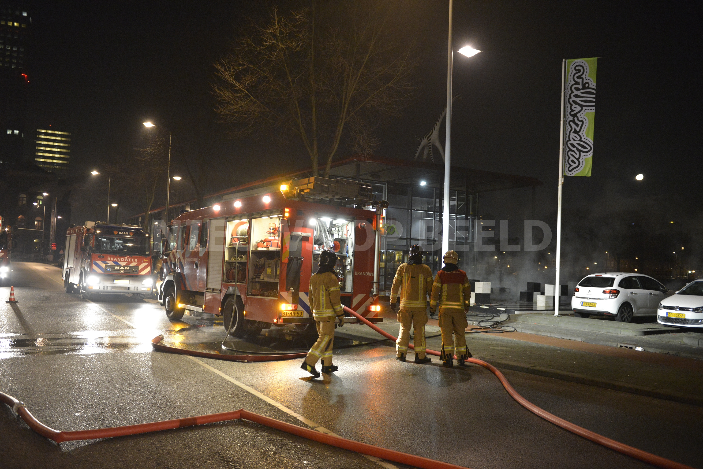 Kunstwerk Villa Zebra in brand gestoken Stieltjesstraat Rotterdam