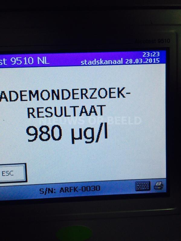 Dollemansrit dronken bestuurder eindigt in sloot Maasdijk/Naaldwijk