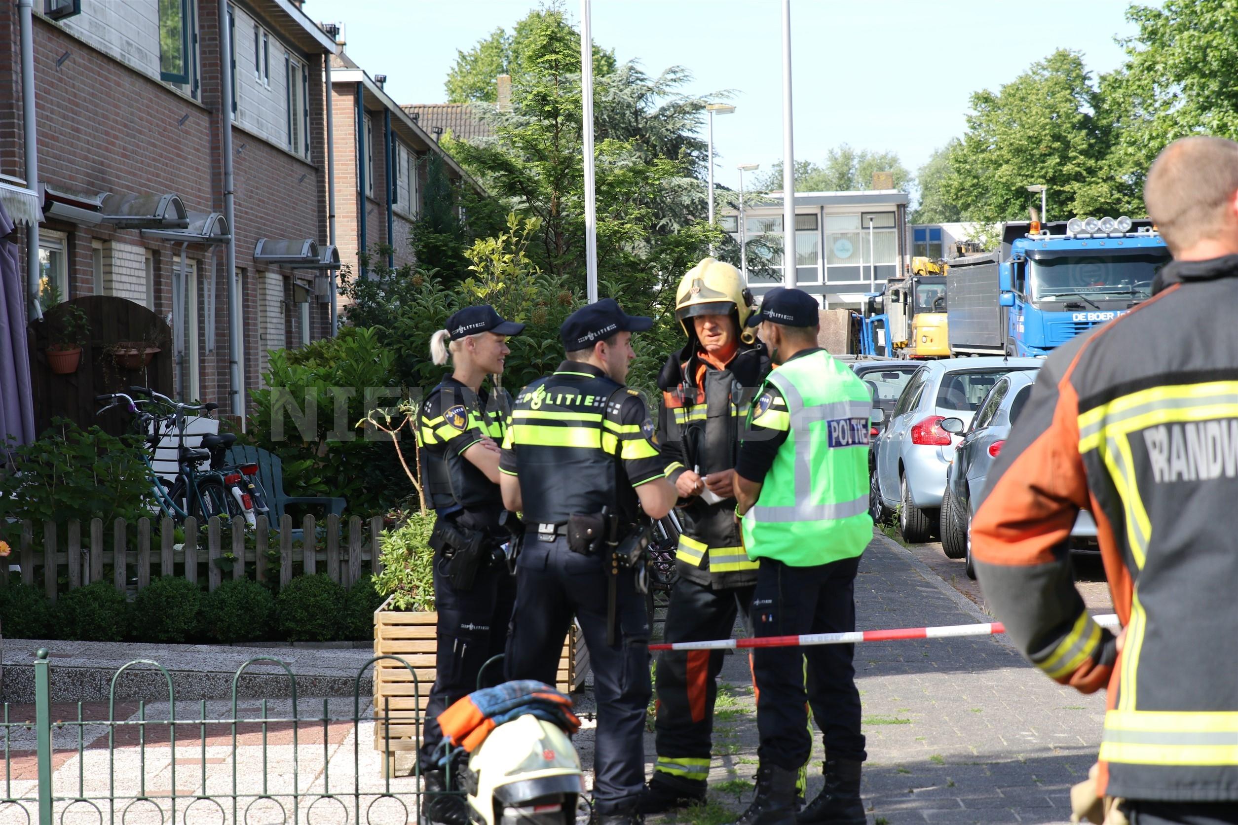 Bewoners geëvacueerd nadat gasleiding geraakt was bij werkzaamheden Molenaarstraat Leiderdorp