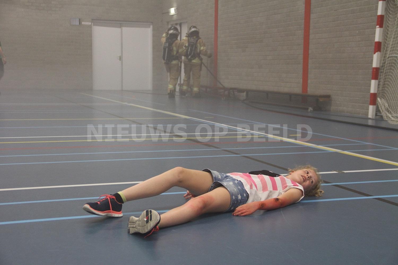 Grote brandweer oefening Sporthal Schenkel Capelle aan den IJssel
