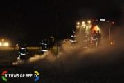 Grote hooibaal in brand gestoken Middelweg Zevenhuizen