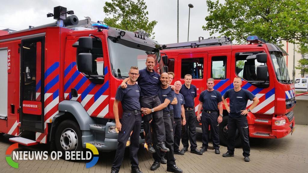 Schiedamse brandweer in bezit van nieuw voertuig 's-Gravenlandseweg Schiedam