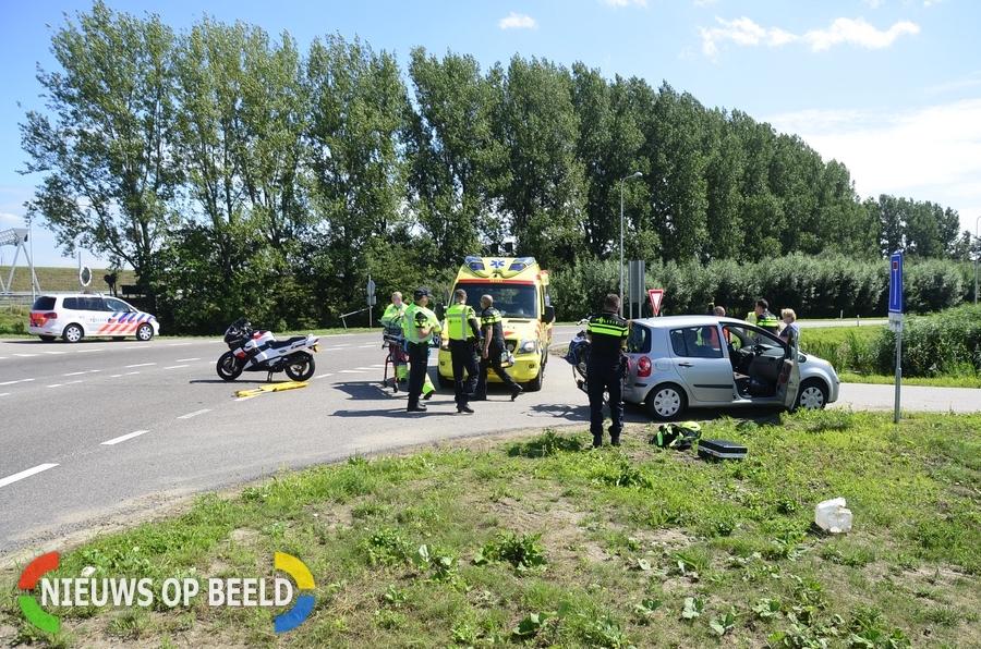 Ongeval tussen auto en motor Middelweg – N456 Moordrecht