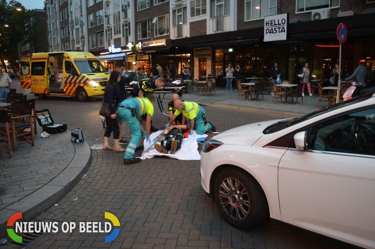 Maaltijdbezorger gewond na aanrijding Meent Rotterdam