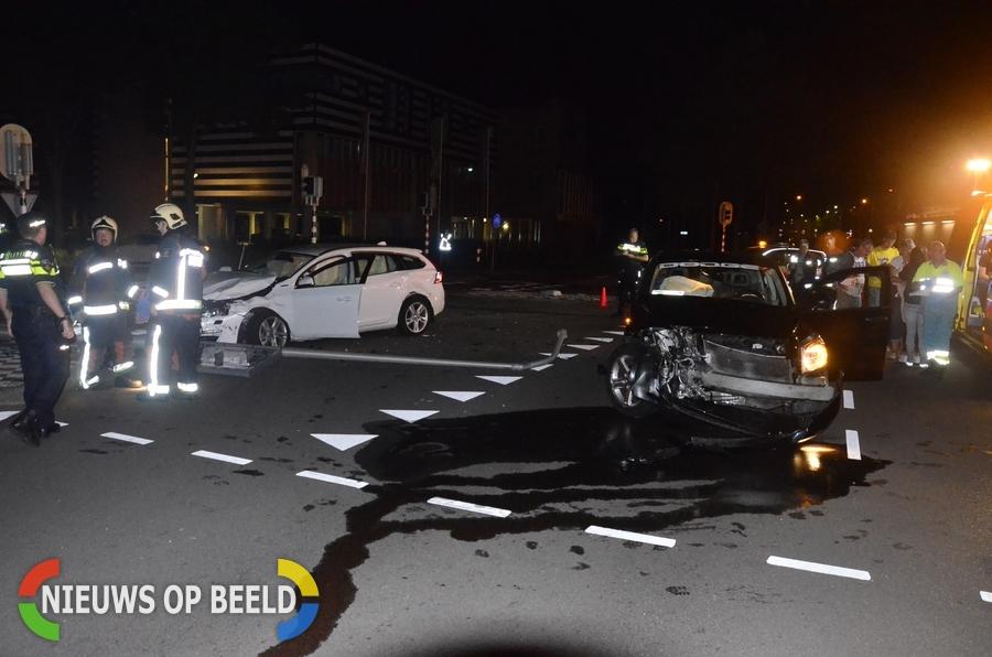 Melding van beknelling bij flink ongeval op de Goverwellesingel met Middenmolenlaan in Gouda