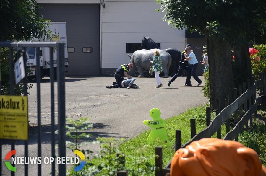 Twee aanhoudingen nadat motorrijder valt door glad wegdek Middelweg – N456 Moordrecht