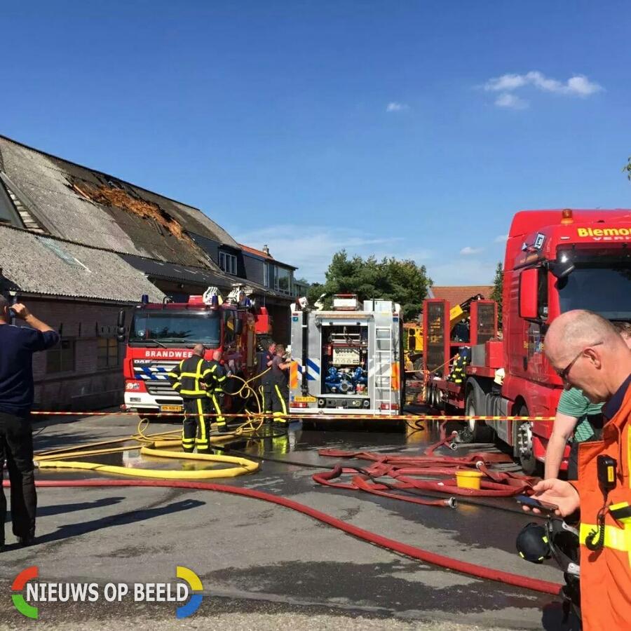 Asbest vrij na brand in loods Develsluis Heerjansdam