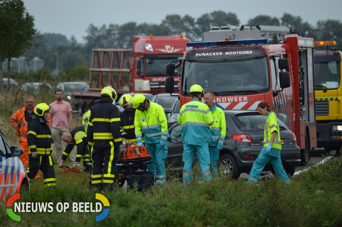 Moeder en kinderen raken gewond bij ernstig ongeval N470 Delfgauw