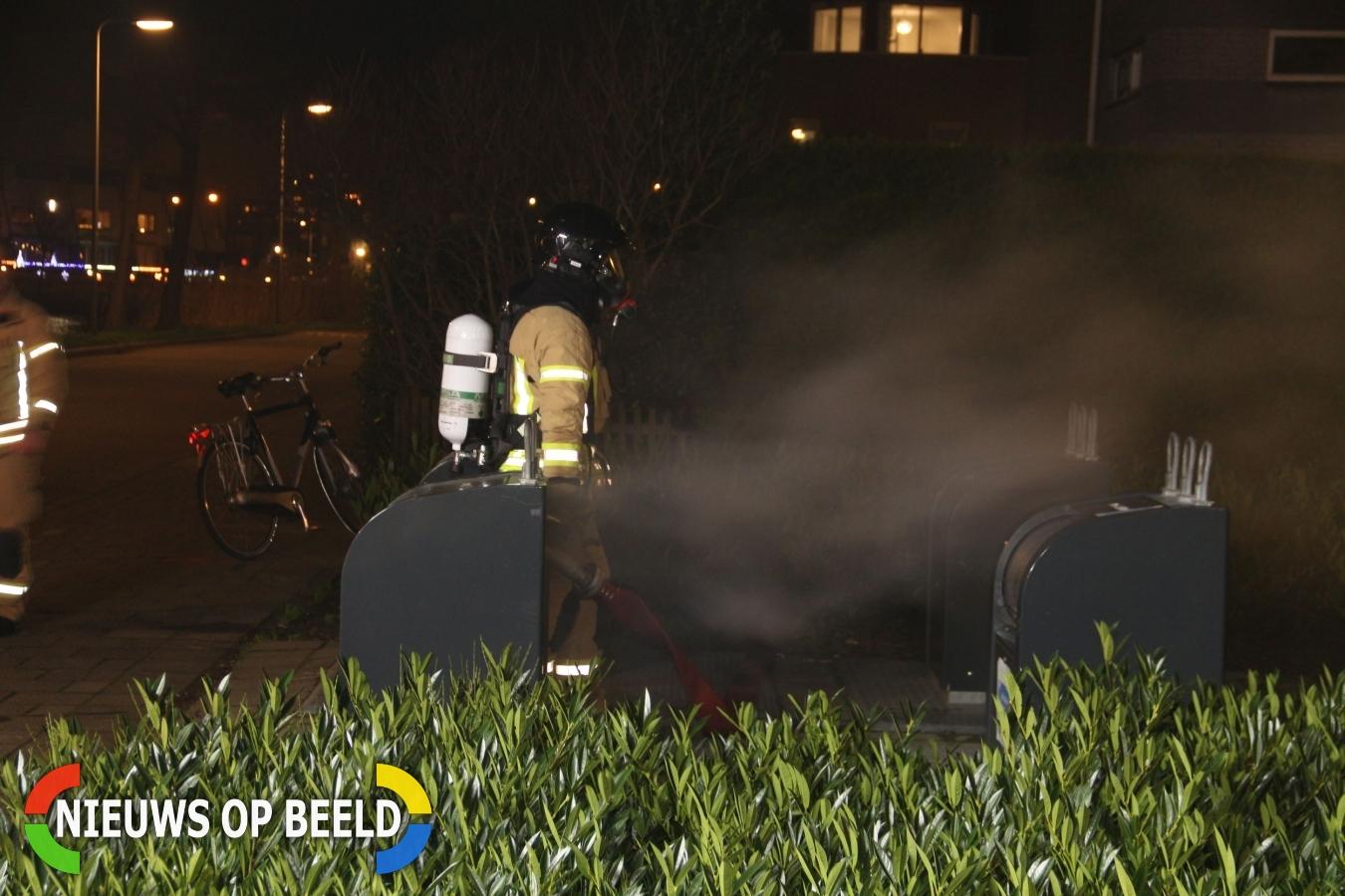 Ondergrondse containerbrand Couperinstraat Capelle aan den IJssel