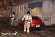 Auto brand volledig uit Catharinastraat Rotterdam