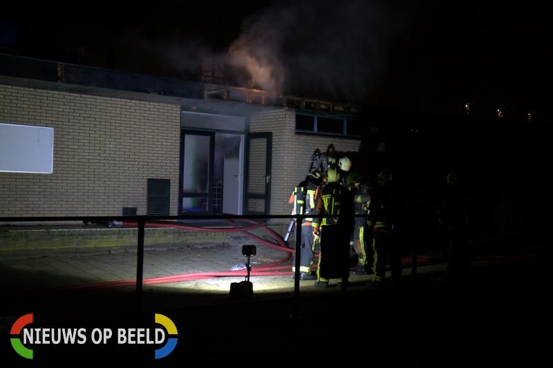 Flinke brand in kleedkamers voetbalvereniging Sportlaan Gouda