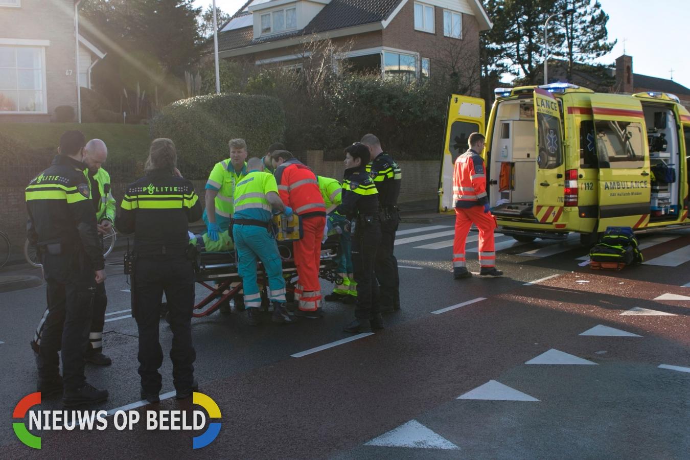 Aanrijding tussen fietser en personen auto in Noordwijk