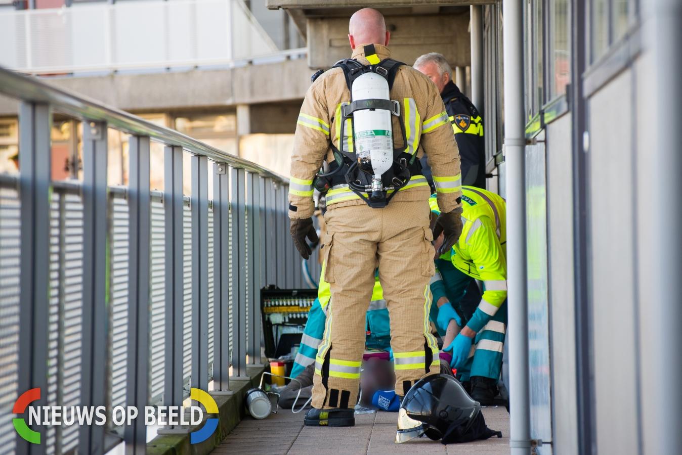 Zwaargewonde na brand in flatwoning Beemsterhoek Capelle aan den IJssel