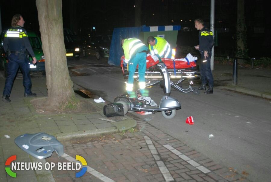 Bejaarde man in scootmobiel aangereden en achtergelaten Crooswijksesingel Rotterdam