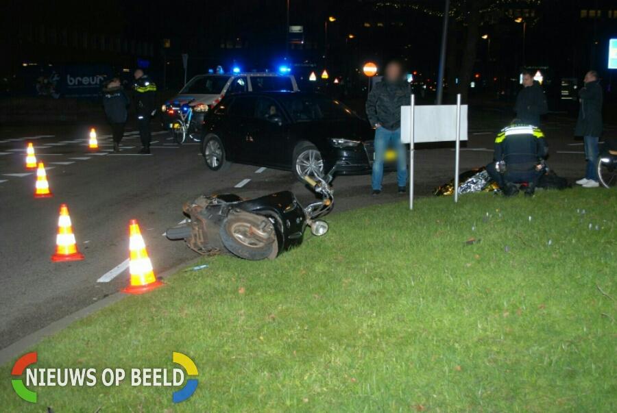 Gewonde na aanrijding met scooter Rivium Capelle aan den IJssel