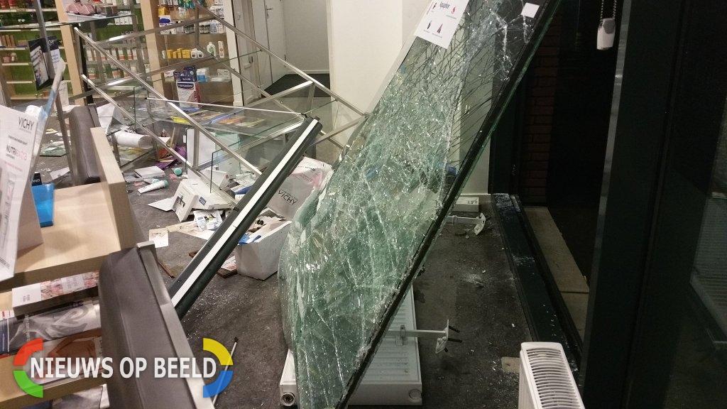 Veel schade na ramkraak op apotheek Ronsseweg Gouda