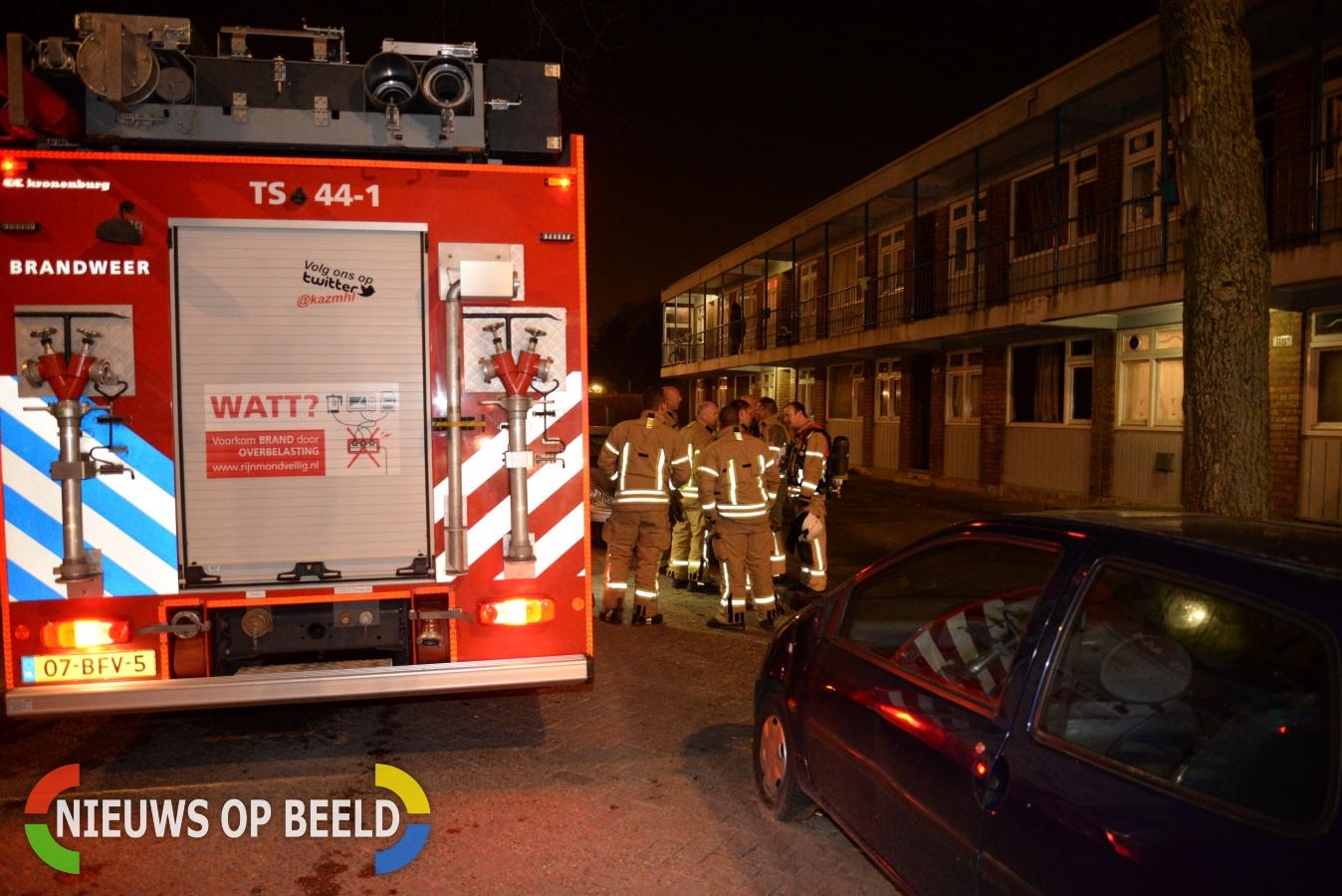 Brandweer rukt uit voor melding gebouwbrand Melissantstraat Rotterdam