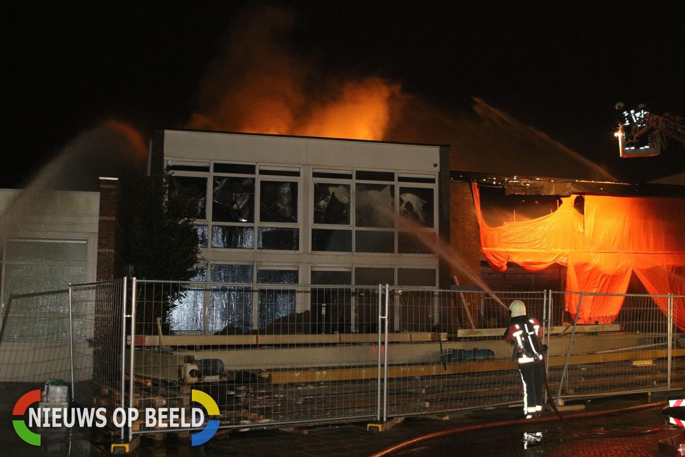 Felle brand verwoest pand Servo Berkel Prior Jan Evertsenlaan Katwijk
